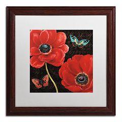 Trademark Fine Art 'Petals and Wings II' Wood Finish Framed Wall Art