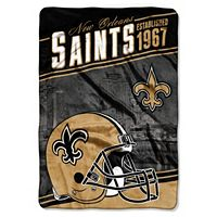 New Orleans Saints Stagger Microfleece Oversized Throw by Northwest