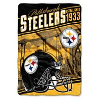 Pittsburgh Steelers Stagger Microfleece Oversized Throw by Northwest