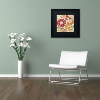 "Trademark Fine Art ""Spice Garden I"" Black Framed Wall Art"