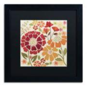 """Trademark Fine Art """"Spice Garden I"""" Black Framed Wall Art"""