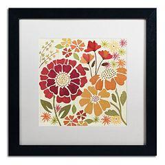 Trademark Fine Art 'Spice Garden I' Black Framed Wall Art