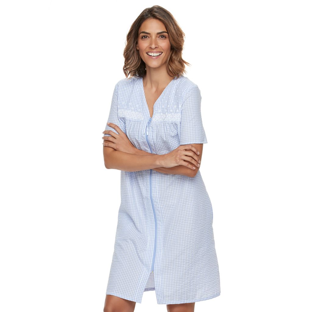 Women's Croft & Barrow® Zip Duster Robe
