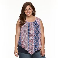 Plus Size AB Studio Cold-Shoulder Popover Top