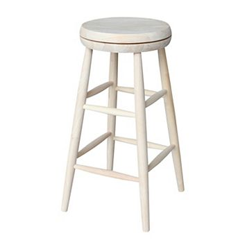 International Concepts White Swivel Bar Stool