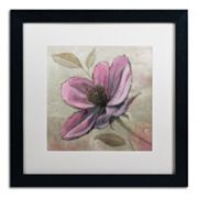 Trademark Fine Art 'Plum Floral III' Black Framed Wall Art