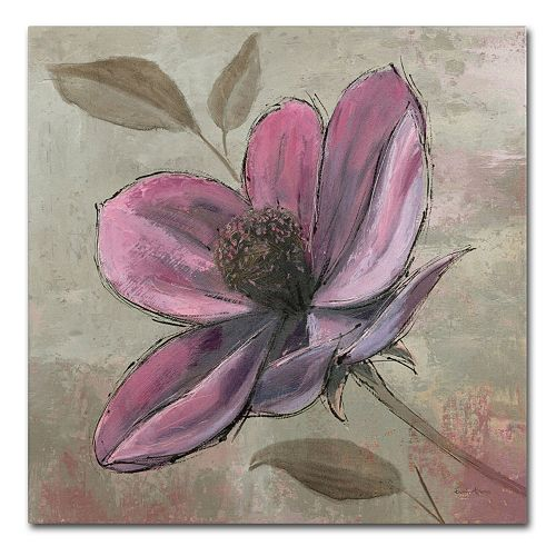 """Trademark Fine Art """"Plum Floral III"""" Canvas Wall Art"""