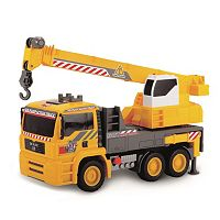 Dickie Toys 12-Inch Air Pump Action Mobile Crane Truck