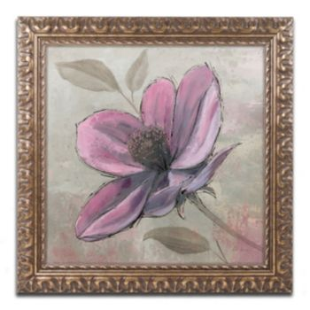 "Trademark Fine Art ""Plum Floral III"" Ornate Framed Wall Art"