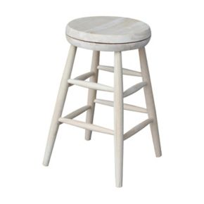 International Concepts 24-in. White Swivel Counter Stool