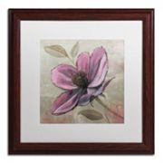 Trademark Fine Art 'Plum Floral III' Wood Finish Framed Wall Art