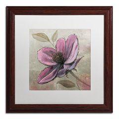 Trademark Fine Art 'Plum Floral III' Wood Finish Framed Wall Art