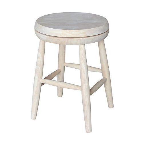 International Concepts 18-in. White Swivel Counter Stool
