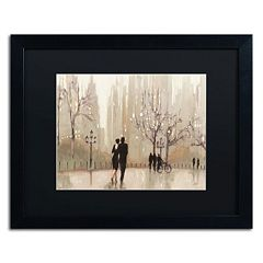 Trademark Fine Art 'An Evening Out Neutral' Black Framed Wall Art