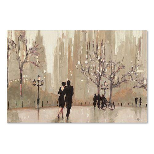 """Trademark Fine Art """"An Evening Out Neutral"""" Canvas Wall Art"""