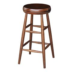 International Concepts Espresso Swivel Bar Stool