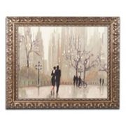 Trademark Fine Art 'An Evening Out Neutral' Ornate Framed Wall Art