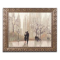 Trademark Fine Art 'An Evening Out Neutral' Ornate Framed Wall Art