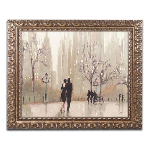 """Trademark Fine Art """"An Evening Out Neutral"""" Ornate Framed Wall Art"""