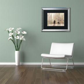 """Trademark Fine Art """"An Evening Out Neutral"""" Silver Finish Framed Wall Art"""
