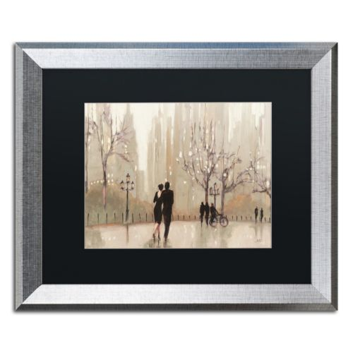 Trademark Fine Art An Evening Out Neutral Silver Finish Framed Wall Art