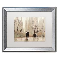 Trademark Fine Art 'An Evening Out Neutral' Silver Finish Framed Wall Art