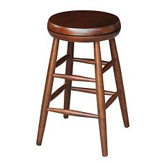 International Concepts 24 in Espresso Swivel Counter Stool