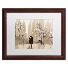 Trademark Fine Art 'An Evening Out Neutral' Wood Finish Framed Wall Art