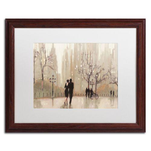 """Trademark Fine Art """"An Evening Out Neutral"""" Wood Finish Framed Wall Art"""