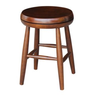 International Concepts 18-in. Espresso Swivel Counter Stool