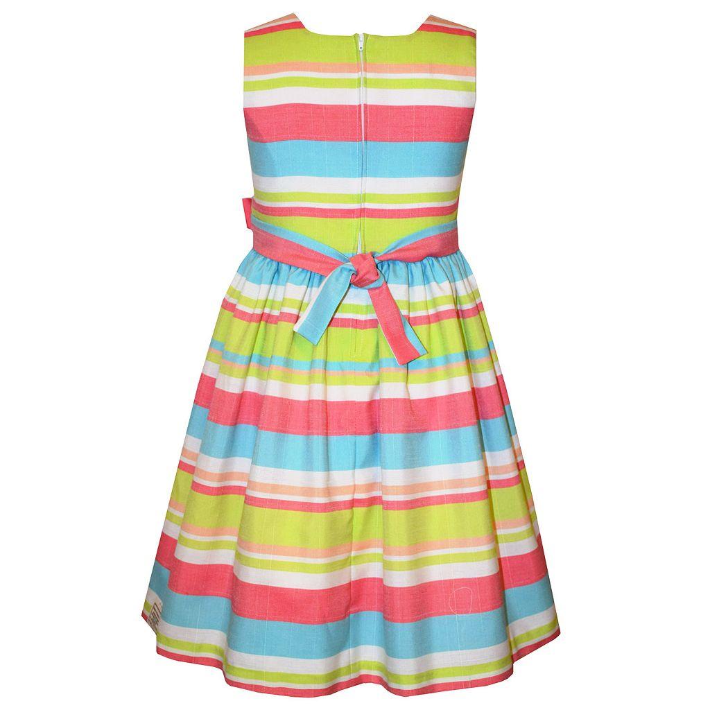 Girls Plus Size Bonnie Jean Striped Dress