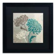 "Trademark Fine Art Wellington Studio ""Chrysanthemums II"" Black Framed Wall Art"