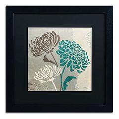 Trademark Fine Art Wellington Studio 'Chrysanthemums II' Black Framed Wall Art
