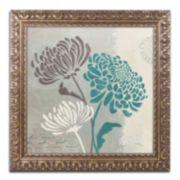 "Trademark Fine Art Wellington Studio ""Chrysanthemums II"" Ornate Framed Wall Art"
