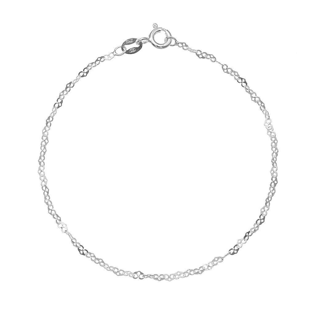 PRIMROSE Sterling Silver Heart Link Bracelet - 8 in.