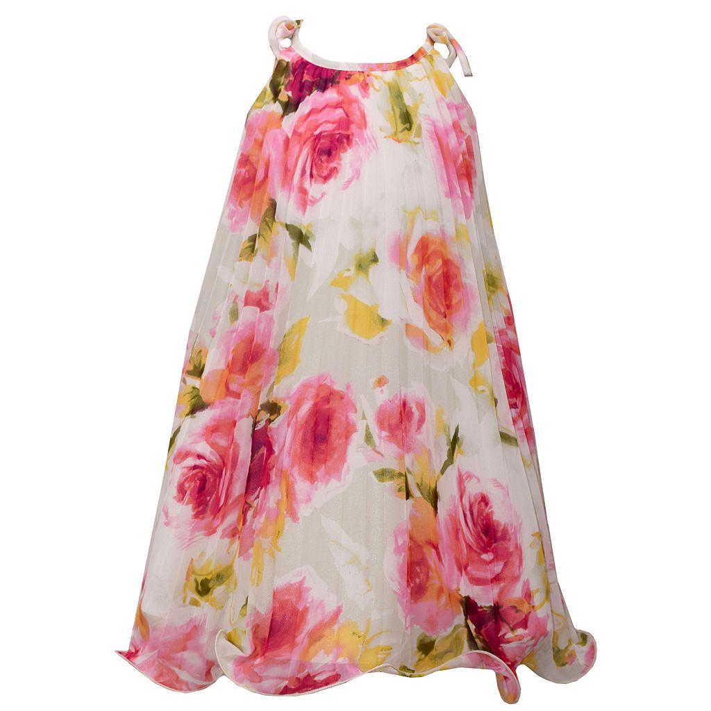 Girls 7-16 Bonnie Jean Pleated Chiffon Trapeze Dress