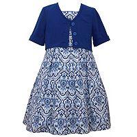 Girls 7-16 Bonnie Jean Ikat Dress & Cardigan Set