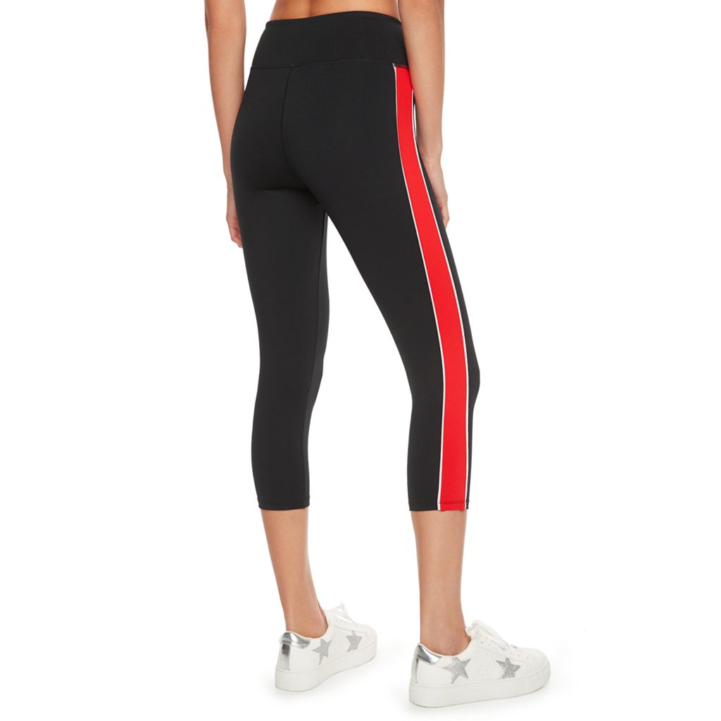 madden NYC Juniors' Colorblock Side Panel Capris