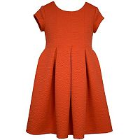 Girls 7-16 Bonnie Jean Coral Textured Jacquard Skater Dress