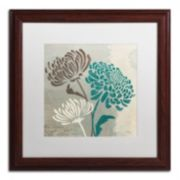 "Trademark Fine Art Wellington Studio ""Chrysanthemums II"" Wood Finish Framed Wall Art"