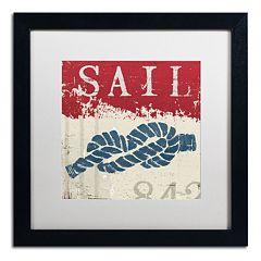 Trademark Fine Art Wellington Studio 'Nautical III Red' Black Framed Wall Art