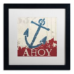 Trademark Fine Art Wellington Studio 'Nautical IV Red' Black Framed Wall Art