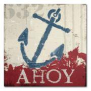 "Trademark Fine Art Wellington Studio ""Nautical IV Red"" Canvas Wall Art"