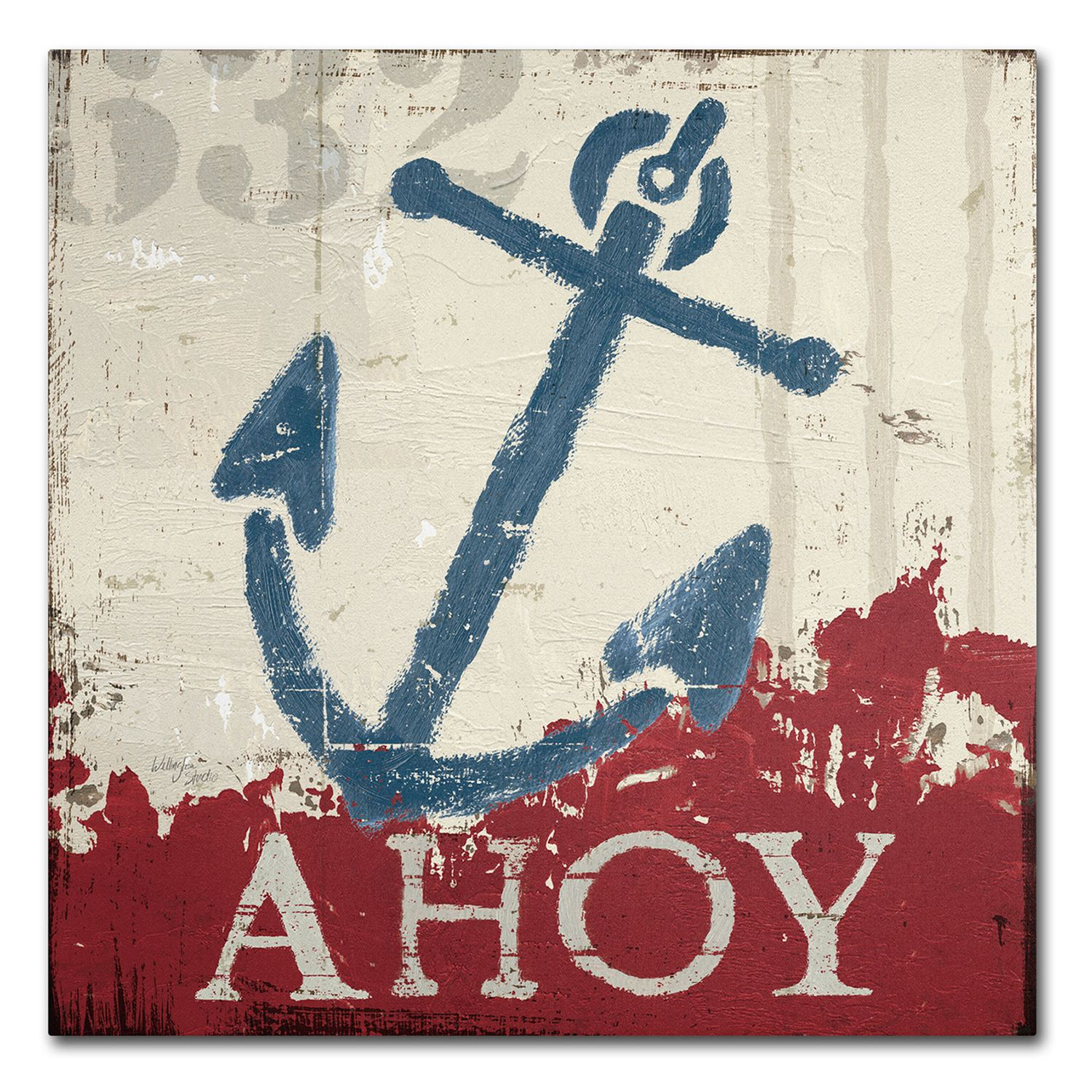 Great Trademark Fine Art Wellington Studio U0027Nautical IV Redu0027 Canvas Wall Art