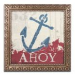 "Trademark Fine Art Wellington Studio ""Nautical IV Red"" Ornate Framed Wall Art"