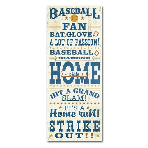 Trademark Fine Art Sport Lover II Baseball Canvas Wall Art