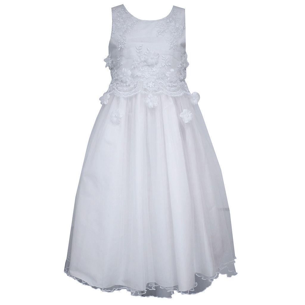 Girls 7-16 Bonnie Jean Popover Tulle Dress