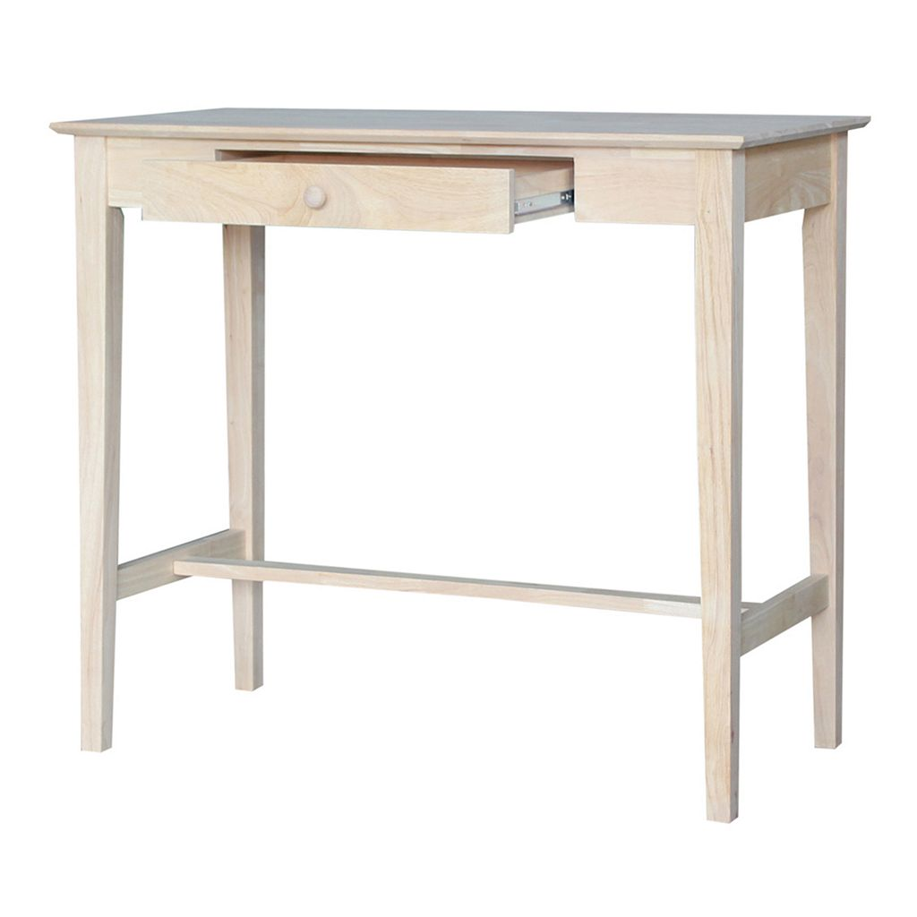 International Concepts White Standing Desk