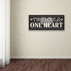Trademark Fine Art L-O-V-E V Black Canvas Wall Art