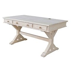 International Concepts Canyon White 3-Drawer Desk